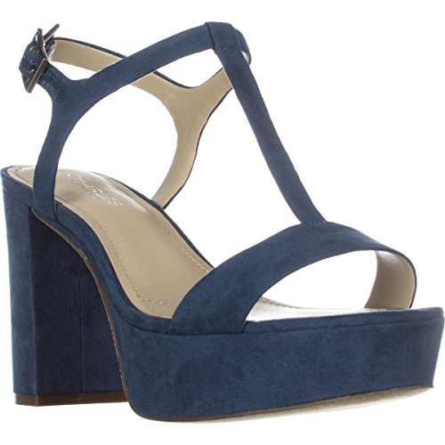 CHARLES BY CHARLES DAVID Womens Miller Open Toe Casual T-Strap, Denim, Size 7.5 Charles David T-strap Sandals