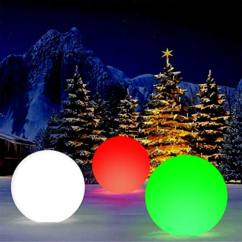 Light Up Christmas Balls Outdoors in US - 7