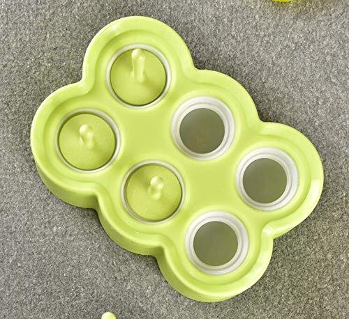 GYwink Cocina Mini Molde para paletas de Hielo Molde para Helado de Silicona Lolly Ice Cream Ball Maker (Azul Cielo) para Hornear (Color : Sky-Blue, ...