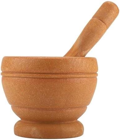 mortero y mano de mortero y especias de pl/ástico cuenco de molienda de cocina Juego manual de jengibre