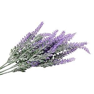 TYEERDEC Artificial Flowers 6 Bundles Lavender Bouquet for Wedding Home Office Decoration - Purple 4