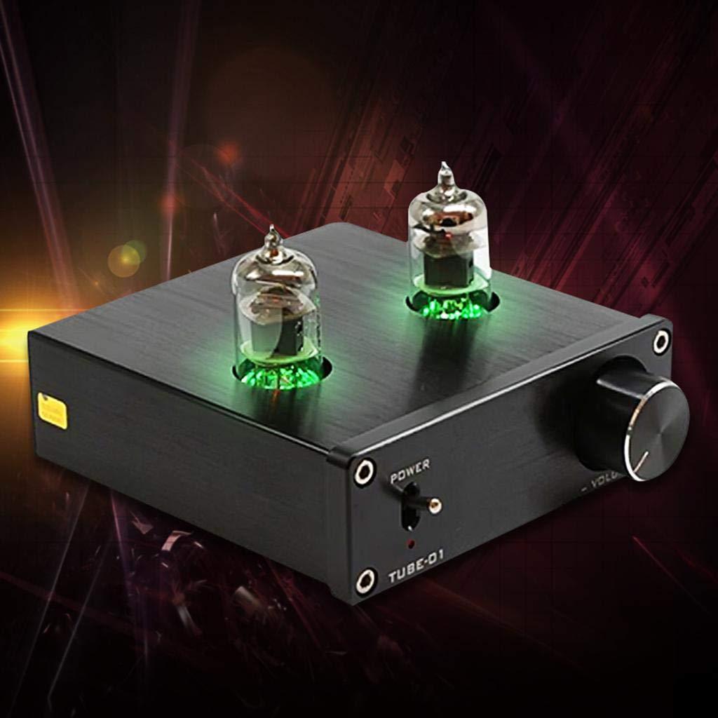 YOOJOP HiFi Buffer Stereo Audio Amp Amplifier Preamplifier Pre-Amp 6J1 Valve Produced by YOOJOP (Color : Like The Picture)