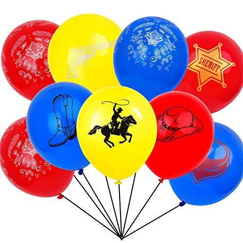 West Cowboy Boots Horse Party Supplies Balloons -
