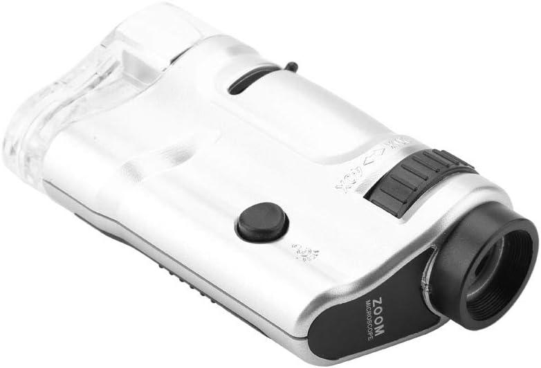 Mini bolsillo de aumento digital 20X a 40X HD c/ámara de inspecci/ón microscopio iluminado microscopio para estudiantes