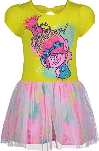 Trolls Toddler Girls Dress - Poppy, Yellow (4T) ()