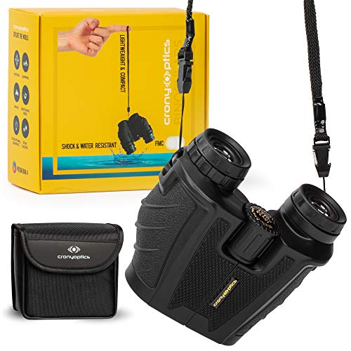 Lightweight and Compact Binoculars for Adults 10x25 - High Powered Bino Best for Bird Watching, Travel and Stargazing - Small and Water-Resistant