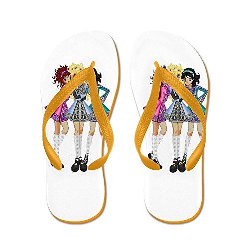 CafePress Irish Dance - Flip Flops, Funny Thong Sandals, Beach Sandals Orange