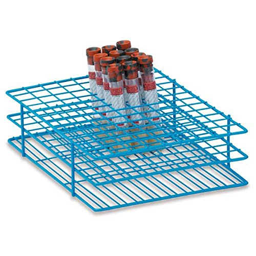 16mm Tube Rack for 10mL Test Tubes Large Holds 108 tubes 9.5''L x 7.25''W x 2.5''H by CeilBlue