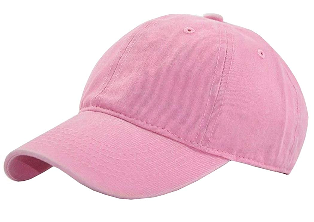 Kids Baby Girls Hat Washed Baseball Cap Cotton Solid Sun Hats for Children
