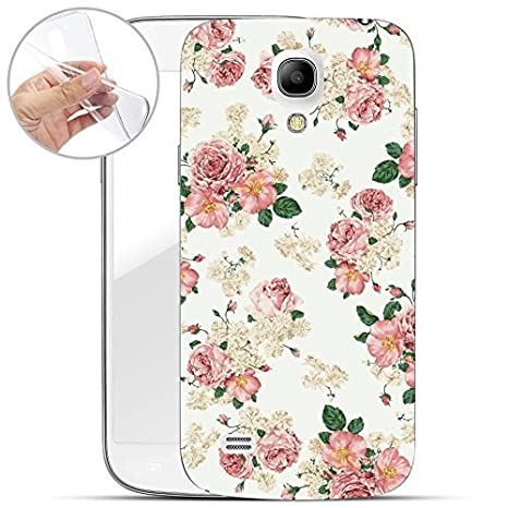 Finoo Samsung Galaxy S4 Mini Weiche Flexible Silikon-Handy-Hülle | Transparente TPU Cover Schale mit Motiv | Tasche Case Etui