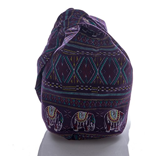 Purse Cotton Bohemian Hobo Crossbody Bag Hippie Thai Avarada Elephant Purple Geometry Pattern Sling Messenger Stitch Cross 8zqt5Fw
