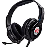 GamesterGear USB Gaming Headset with Microphone, Stereo Headphones for PC built-in Bass Quake, OG-AUD63090