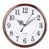 Bekith 12 inch Retro Clock Non Ticking Silent Quartz Decorative Wall Clock