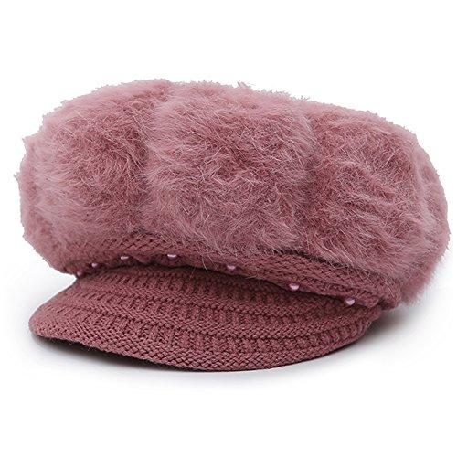 Epsion Women Winter Knit Crochet Newsboy Caps Lady Warm Pearl Knit Beanie Hat by Epsion (Image #1)