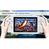 "Handheld Game Console , 650 Classic Games 4.3"" 64 Bit Portable Game Console PAP-GametaII Support GBA / GBC / SEGA / NES / SFC / NEOGEO -White"