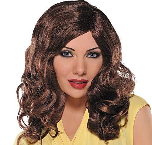 amscan 840376 Waves Wig, One Size, Brown]()