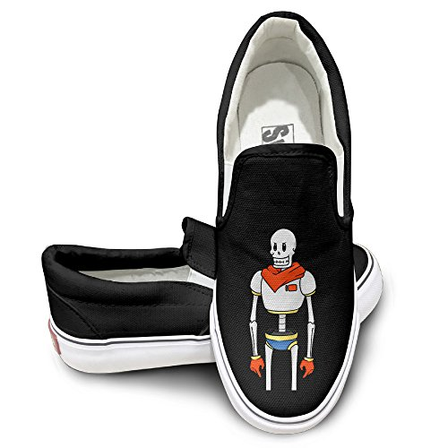 [OOONG Undertale Papyrus Robot Casual Slip On Fashion Sneaker 40] (Tim Drake Costume)