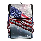 Flag Fireworks School Backpack Casual Travel Daypack Computer Laptop Backpacks for Women Men