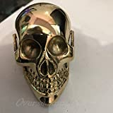 Designer Solid Brass Skull Head Handle For Walking Stick Canes Shaft