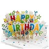 Hallmark - Tarjeta de felicitación de cumpleaños con diseño de tarta de cumpleaños