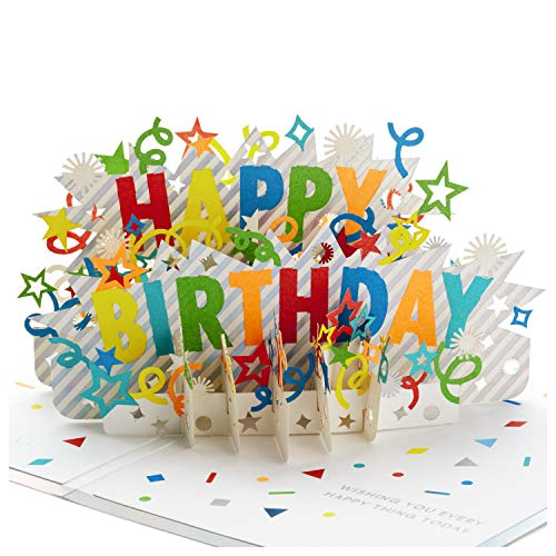 Hallmark Signature Paper Wonder Pop Up Birthday Card (Happy Birthday) (Cards Happy Birthday)