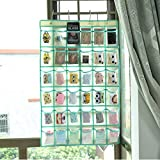 NIMES Hanging Closet Underwear Sock Jewelry Storage Over The Door Classroom Cell Phone Calculator Organizer 36 Clear Pockets