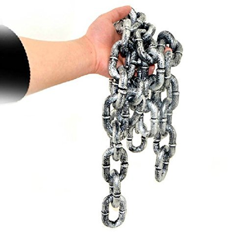 Halloween Costume Props (Zicome 6-feet Plastic Grey & Black Chain Links Costume Accessory Halloween Decoration)
