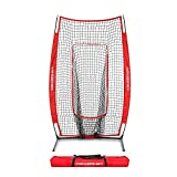 Powernet Infielder Training Baseball Softball Net 4ft x 7ft | Throwing Fielding Training Target | Simulate Fielding Situations | Throws to First, Cutoff, Second | Portable, Easy Setup | Team Colors