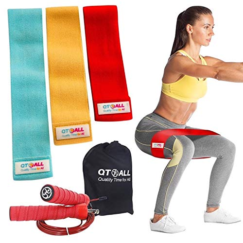 Booty bands, Fabric Resistance Bands for Legs and Butt, Workout Bands Exercise Bands Glute Bands for Women, 3 pack Booty Resistance Bands