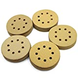 LotFancy 5-Inch 8-Hole Dustless Hook-and-Loop Sanding Disc Sander Paper, Pack of 100 (20 Each of 60 80 120 150 220 Grits)