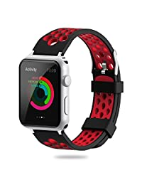 For Apple Watch Band 38mm 42mm,YiJYi Soft Silicone Sport Strap Replacement Wristband iWatch Bands for Apple Watch Series 3,Series 2,Series 1