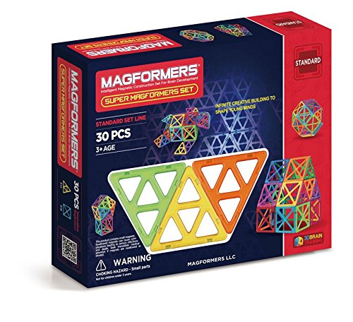 Piece Set Construction 30 (Magformers Standard Super Magformers Set (30-pieces))