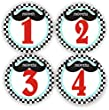 Baby Stickers - Mustache Baby Month Stickers - Baby Shower Stickers - Includes 1-12 Months Stickers