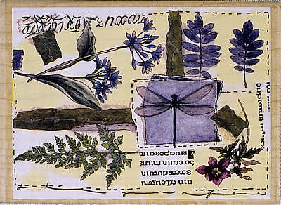 Stamps Happen Floral Collage Mounted Rubber Stamp