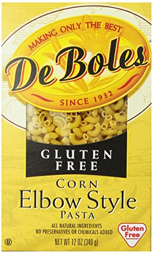 DeBoles Gluten-Free Corn Pasta, Elbow, 12 Ounce (Pack of 12) (Free Pasta Gluten Deboles)