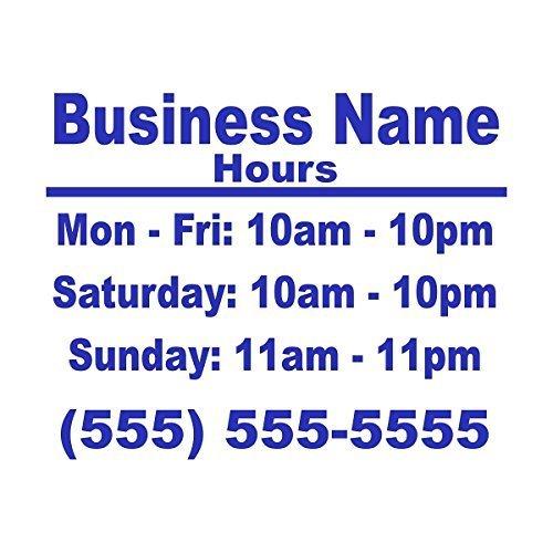 最安 Wild 9x13 Dingos LLC Wild Business Dingos Hours 9x13 Store Window Vinyl Decal Sticker Blue by Wild Dingos LLC [並行輸入品] B01AN4DFRW, 赤池町:5f3b4f6d --- a0267596.xsph.ru