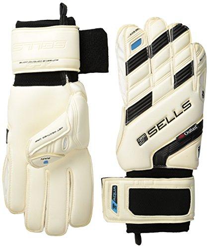 (Sells Goalkeeper Products Wrap Axis 360 Aqua Gloves (Pair), Size 09, White/Aqua )
