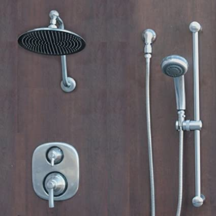 Merveilleux Atantis 10 Brushed Nickel Rain Shower System With Moen Valve