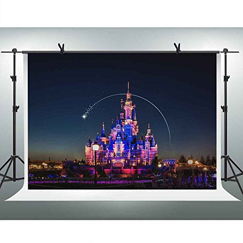 (FHZON 10x7ft Dream Castle Backgrounds Photography Meteor Arc Children's Playground Baby Girl Newborn Birthday Themed Party Wallpaper Video Prop Room Mural)