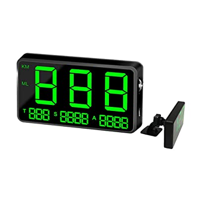 kingneed Original Universal GPS Head Up Display Speedometer Odometer Car Digital Speed Display MPH Over Speed Alarm Car Clock for All Vehicles C60/C60S/C80/C90 (C80): Automotive