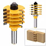 ERTIANANG 1pc Adjustable Box Finger Joint Router Bit 1/2 inch Shank Cone Tenon Woodworking Cutter For Power Tool