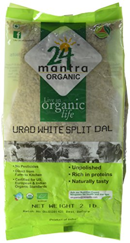 Organic Urad Dal Split - ★ Split Matpe or Beluga Beans Washed Lentils Without Skin - ★ USDA Certified Organic - ★ European Union Certified Organic - ★ Pesticides Free - ★ Adulteration Free -