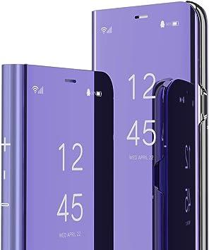 COTDINFOR Huawei Honor 9 Lite Funda Espejo Ultra Slim Ligero Flip ...