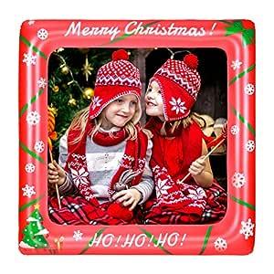 BESTOYARD La Navidad Inflable Frame Photo Booth Props Selfie ...