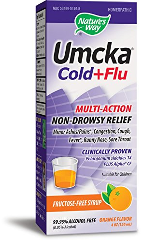 Nature's Way Umcka Cold and Flu Syrup, Orange, 4 Ounce
