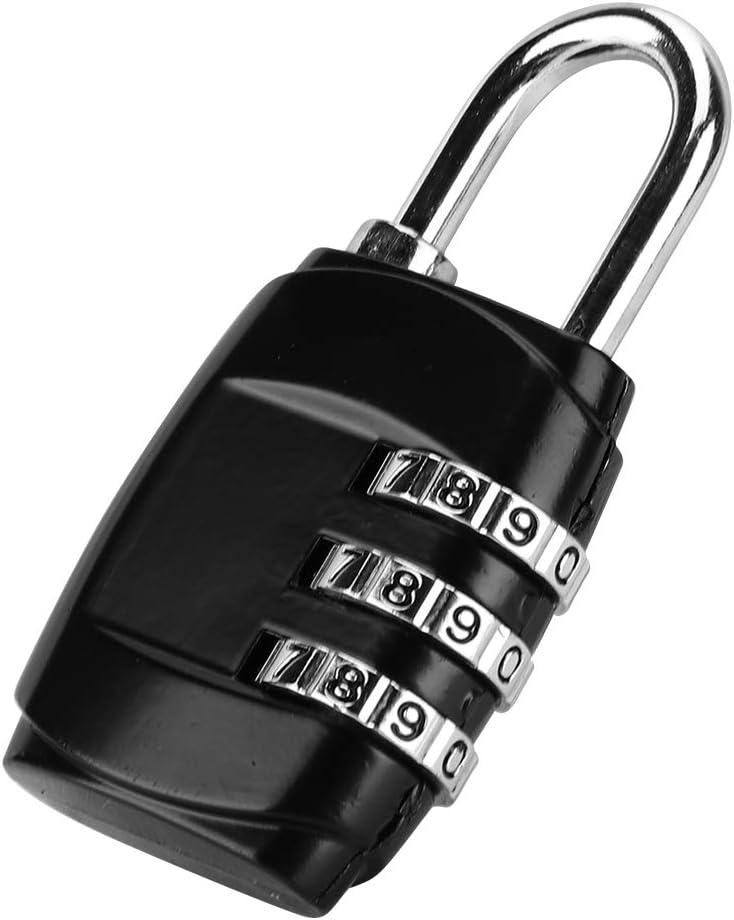 Diyife Sicherheitsschloss Koffer Ziffernschloss f/ür Reisegep/äck Schlie/ßfach Kombinations-Zahlenschloss