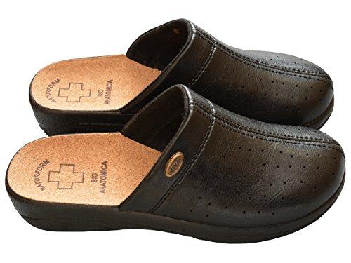 Scarpe Comodo 41 3512 Pantofole Donna Bawal 36 Nero Ciabatte Lavoro Sanitarie Sughero Bianco da Nero Sandalias Ospedale wqXH4R7