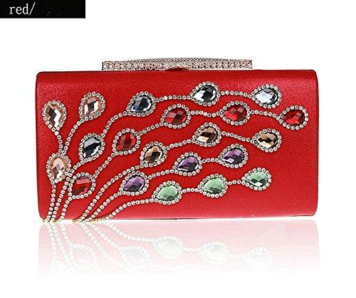 girl Diamond fashion bag F dinner bag hand Zhiming Color boutique bag Purse zfRax1