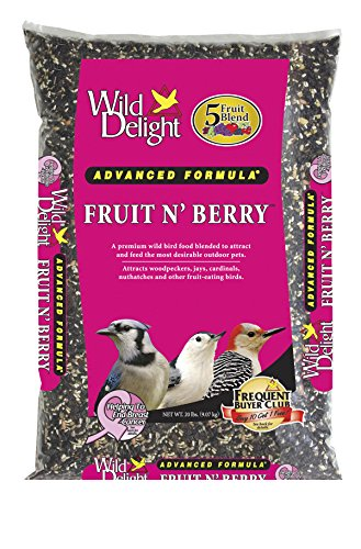 Wild Delight 365200 Fruit N' Berry Bird Food, 20 lb