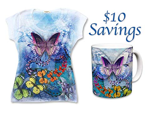 Sweet Gisele Butterfly Spring Special T-Shirt & Mug Combo (White, S)]()